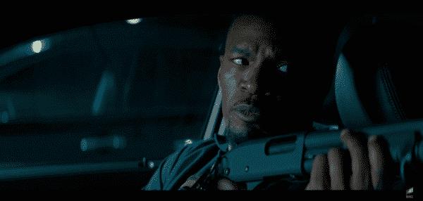 Jamie Foxx as Bats (Leon) in Baby Driver