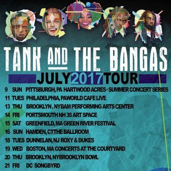 July Tour Poster for Tank and The Bangas