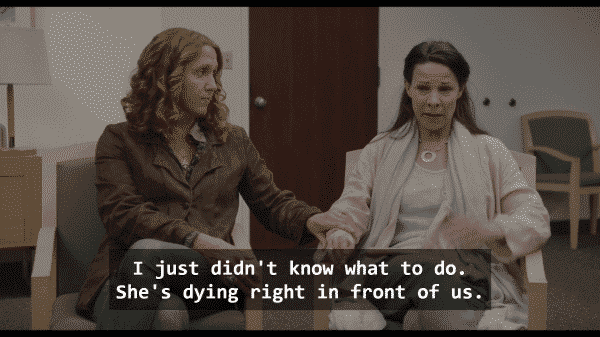 Olive (Brooke Smith) and her partner, Ellen's mom, Judy (Lily Taylor) in To The Bone