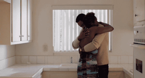 Insecure Season 2 Episode 8 Hella Perspective Season Finale Issa and Lawrence hugging after their talk e1505149080427