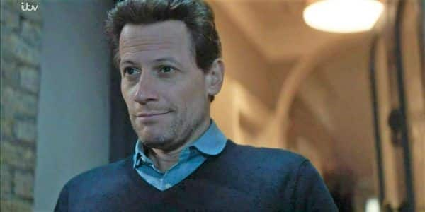 Andrew's smug look as Laura comes to his doorstep and tries to berate him for trying to silence her.