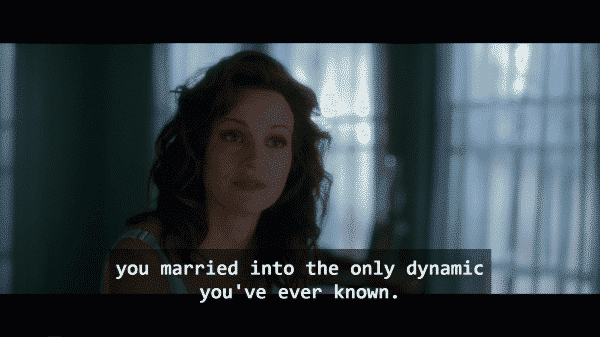 Jessie (Carla Gugino) talking to herself about why she married Gerald.