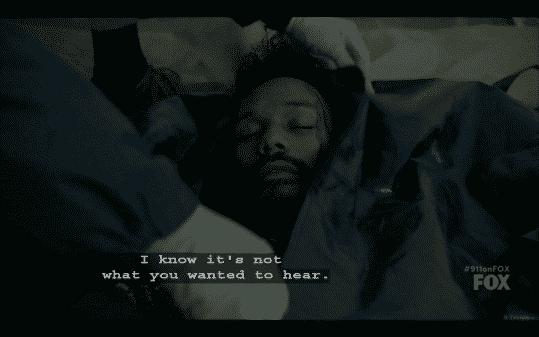 Dale in a body bag.