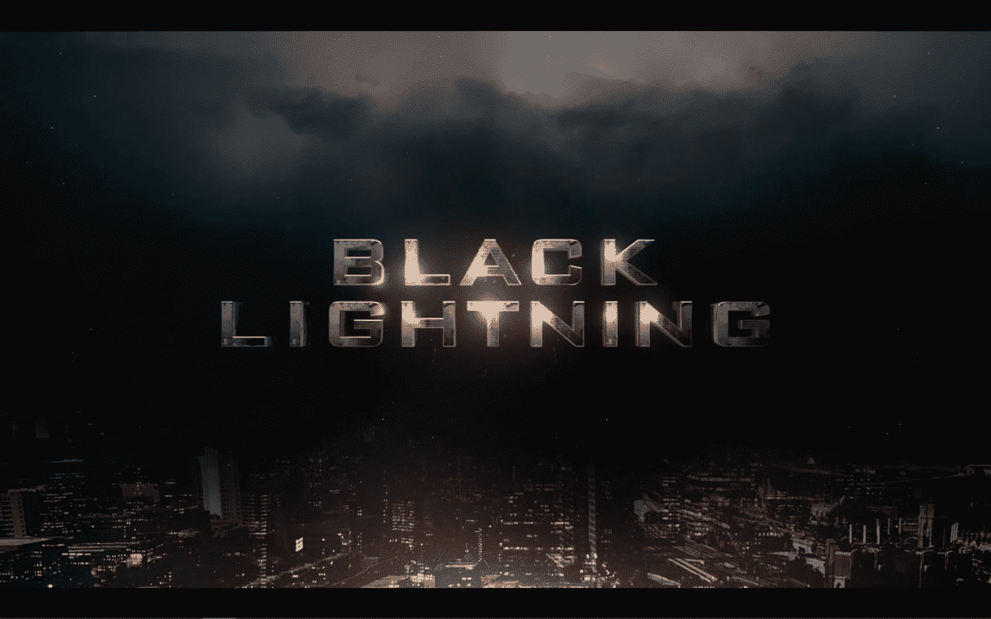 The title card for Black Lightning