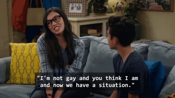 Elena explaining to Alex the difficulties of dating as a lesbian.