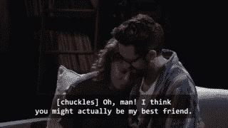 Penelope realizing Schneider is her best friend.