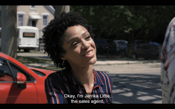Jerrika introducing herself to Quentin