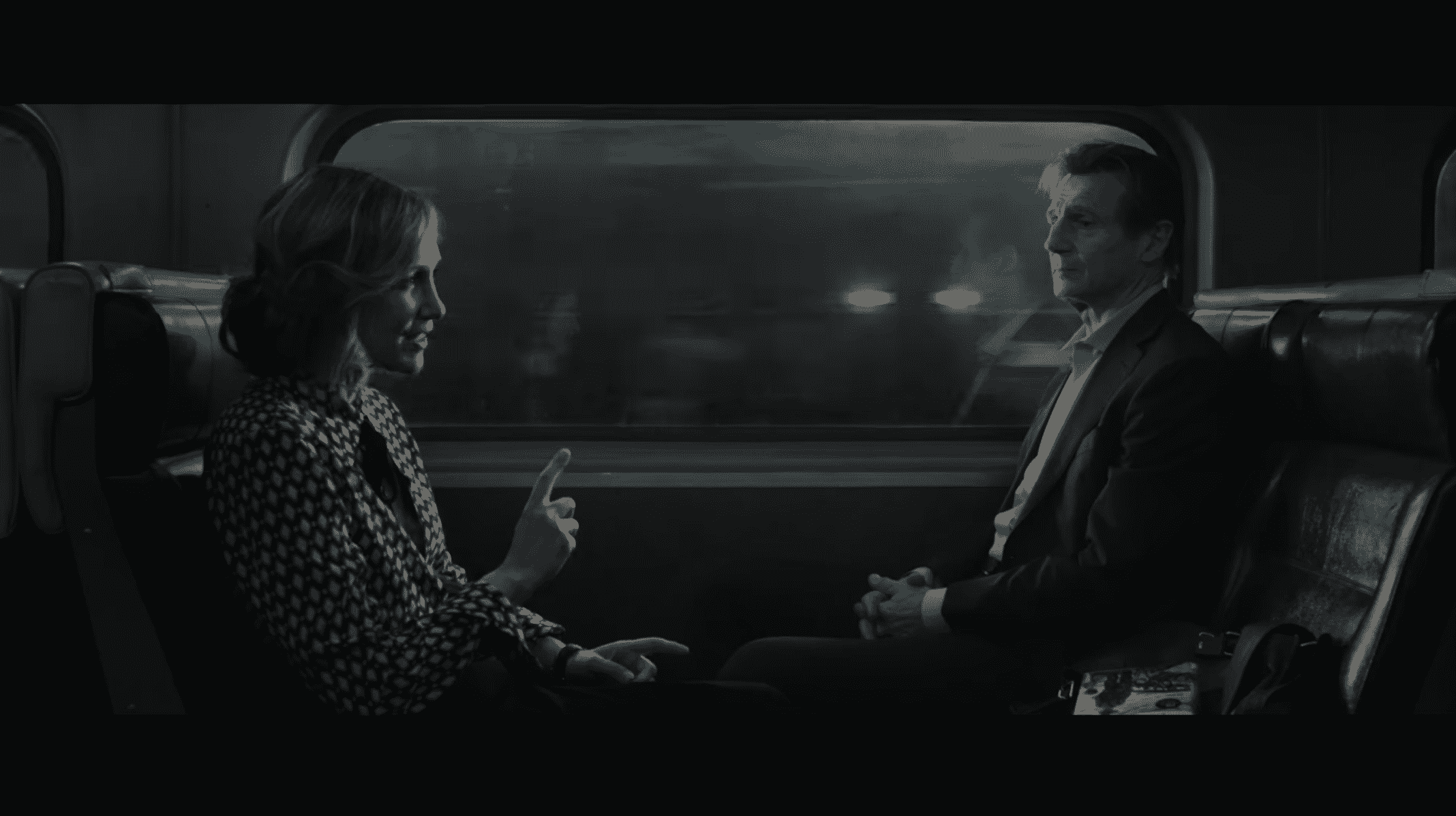 The Commuter – Vera Farmiga and Liam Neeson
