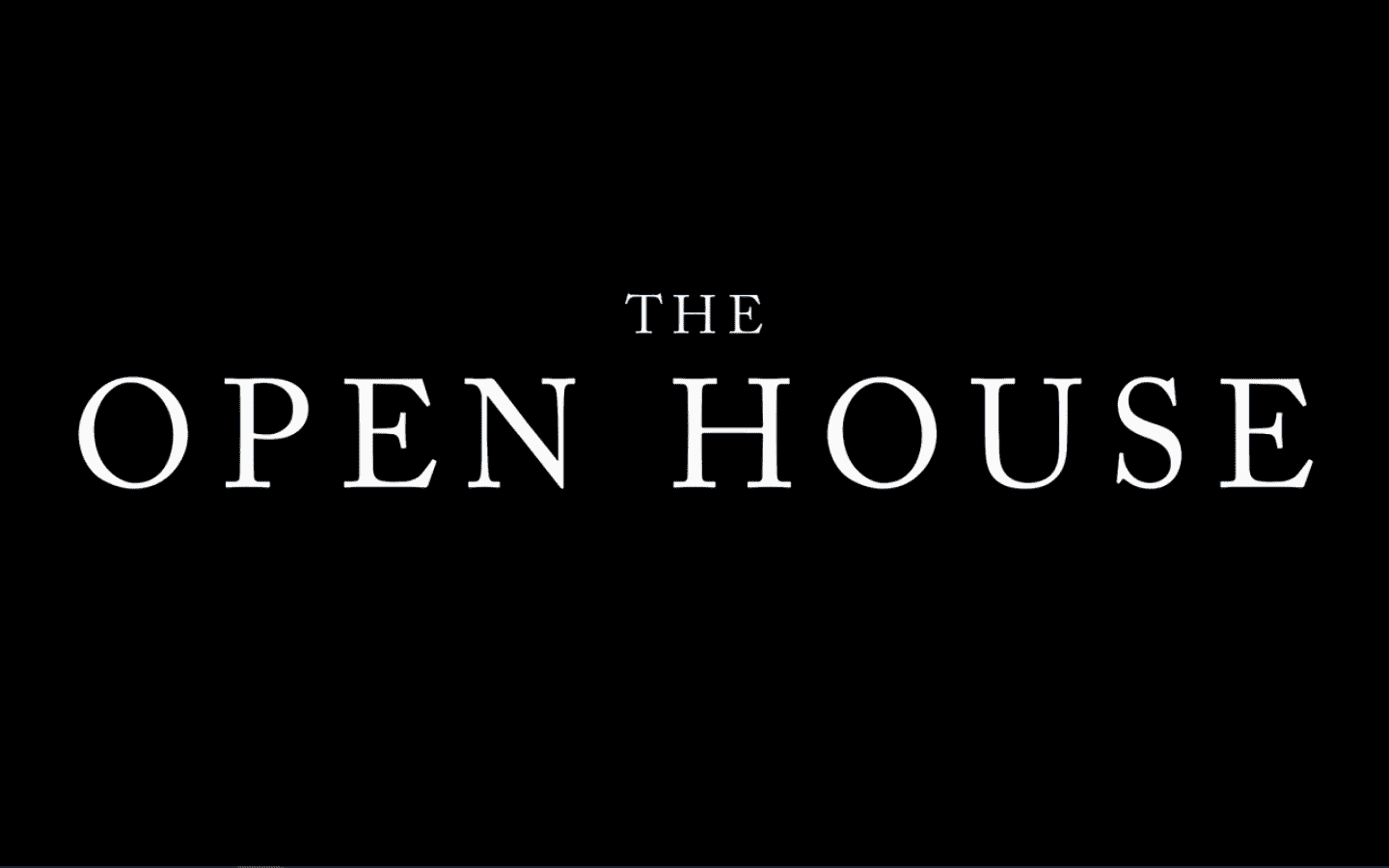 The Open House - Title Card