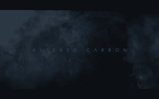 The title card for Netflix's Altered Carbon.