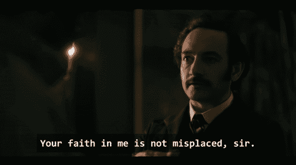 Poe saying that faith in him is not misplaced.