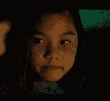 Riley Lai Nelet as Young Rei in Netflix's Altered Carbon.