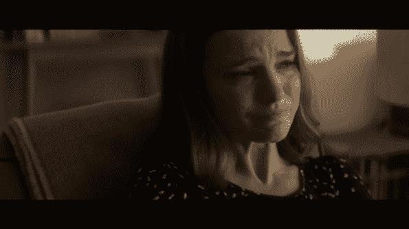 Lena crying.