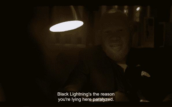 Tobias tainting Khalil's mind about Black Lightning.