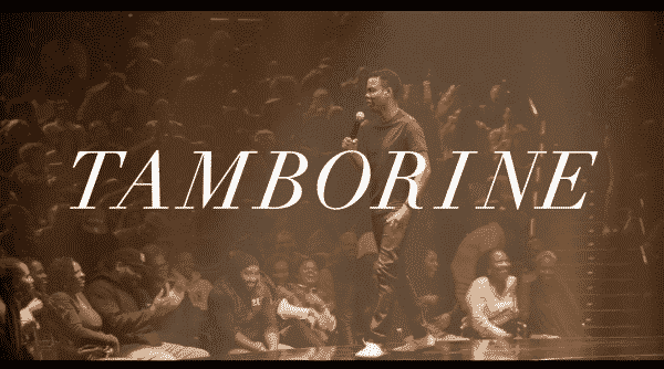 The title card for Chris Rock's Tamborine.