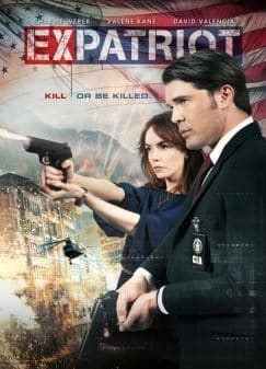 ExPatriot's movie poster featuring Valene Kane and Charlie Weber on the cover.