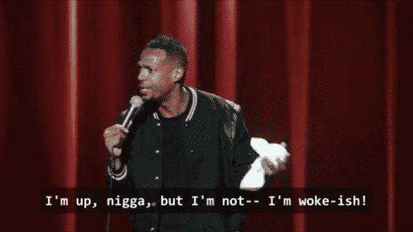 Marlon Wayans saying he is up, but only woke-ish.
