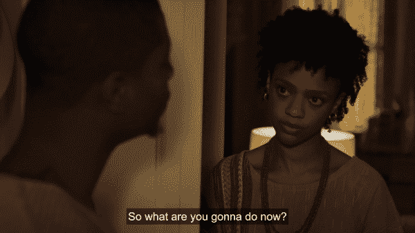 Jerrika asking Brandon what is he going to do after quitting his job.