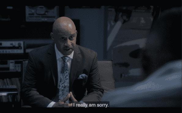 Cecil apologizing to Danny.