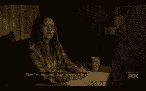 Karen revealing to Hen that Eva is going for custody.