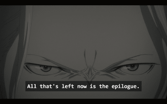Gil, evil Gil, telling us that all that is left is the epilogue.