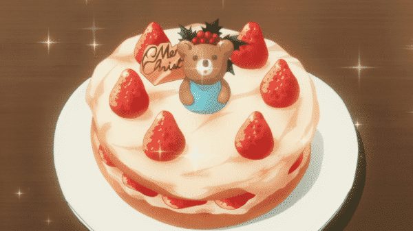 A cake that Yuzu made for Christmas.