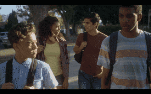 Cast, left to right: Ruby (Jason Genao), Monse (Sierra Capri), Cesar (Diego Tinoco), Jamal (Brett Gray).