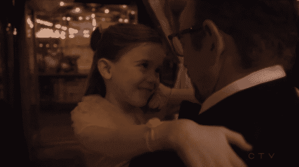 Dr. Glassman dancing with his daughter Maddy.