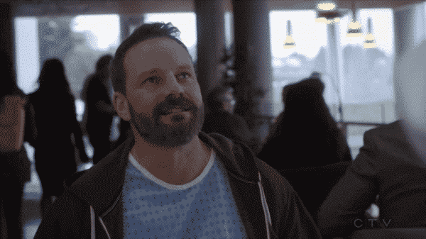 Ryan Robbins as Hunter talking to Shaun about being a disabled person in a workplace.