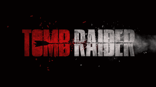 Title card for the 2018 movie Tomb Raider.
