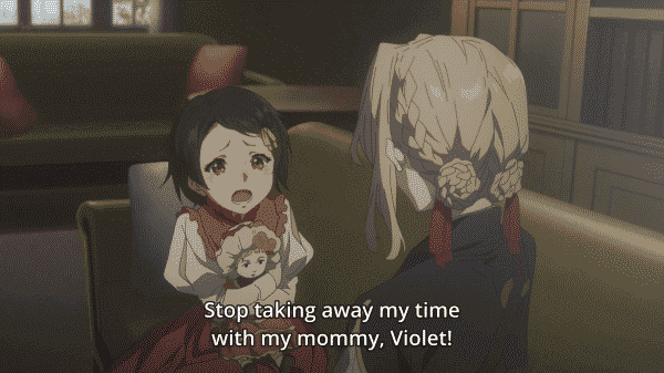 Ann trying to express to Violet that every moment Violet takes up with her mom means less for her.