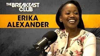 Promotional image for Erika Alexander on The Breakfast Club