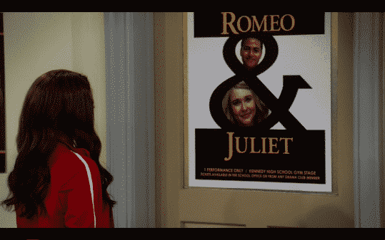 Katie and Ryan's Romeo and Juliet poster.