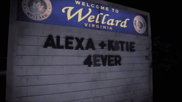 A sign saying Alexa + K8tie 4ever.