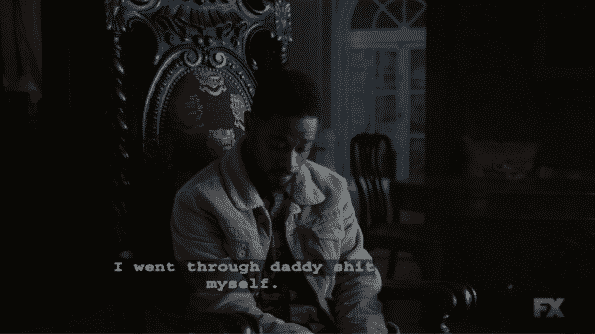 Darius talking about his daddy issues.