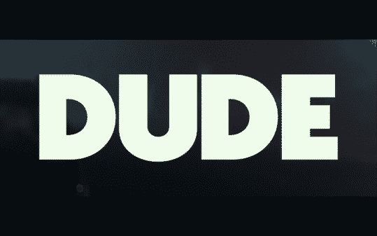 "Title card for Netflix's ""Dude."""