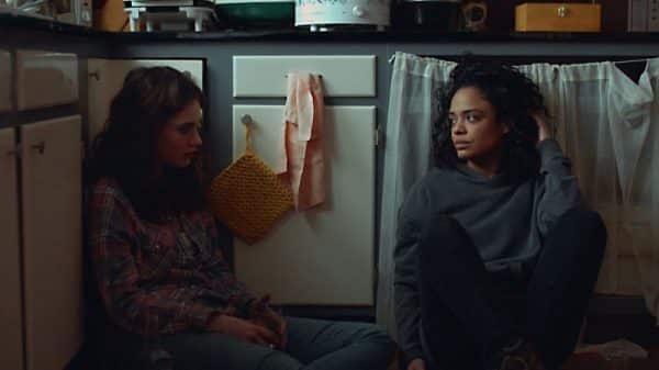Tessa Thompson and Lily James in the film Little Woods.
