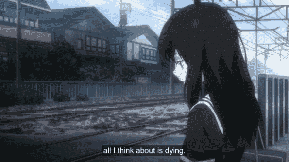 Aya talking about how she contemplates suicide.