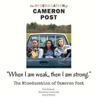 "A quote from the movie saying, ""When I am weak, then I am strong."""