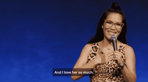 "Title Card for Ali Wong's Netflix comedy special ""Hard Knock Wife"""