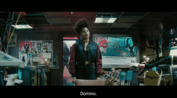 Domino introducing herself to interview to be in X-Force.