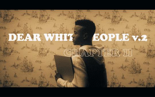Dear White People Volume 2 title card featuring Reggie.