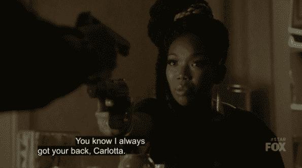 Cassie and Carlotta having a standoff.