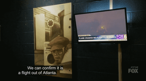 A news report about a plane going down which came out of Atlanta.