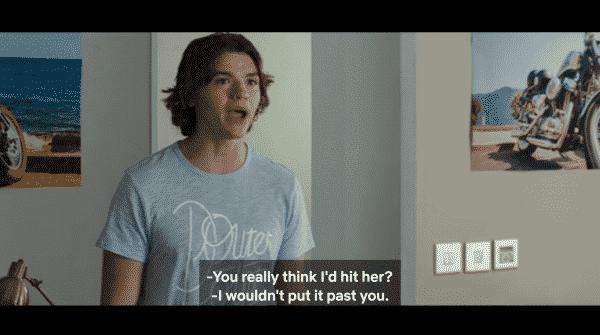 Lee accusing Noah of hitting Elle.