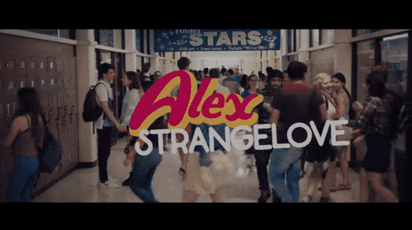 Title card for Alex Strangelove.
