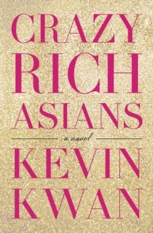 The book cover of of Kevin Kwan's Crazy Rich Asians.