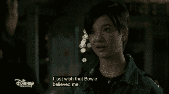 Andi not liking the fact Bowie is trying to stay neutral and thus didn't take her side.