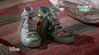 The sneakers Walker made for Andi.