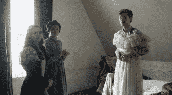 Marilla walking in on the kids playing, and Cole in a dress.